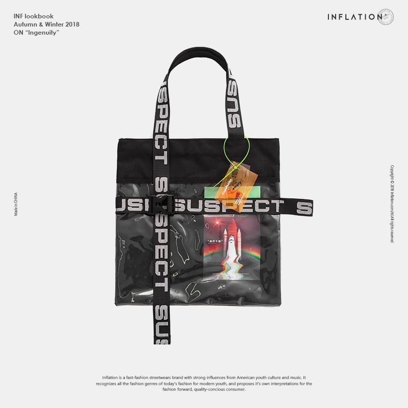 fa0ab9b36 INFLATION Letter Tape Travelling Bag PVC Patchwork Totes PVC Tote Bag Purse  Beach Streetwear Casual Shopping Bags 88AI2018 Waterproof Bags Sport Bags  From ...