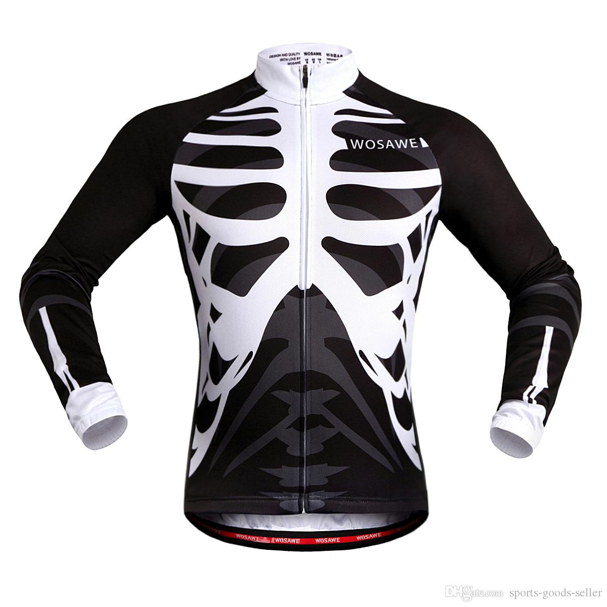 WOSAWE Sublimation Printing Cycling Jersey Clothing Polyester Bicycle Shape  Summer For Men Quick Drying Bike Clothing Jacket Windproof Cycle Jacket  Cycling ... 1067b596d