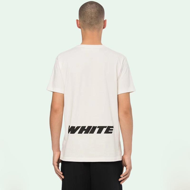ded6d975c7f5 OF Luxury Brand White Blue T-shirt Tops Fashion Street Skateboard ...