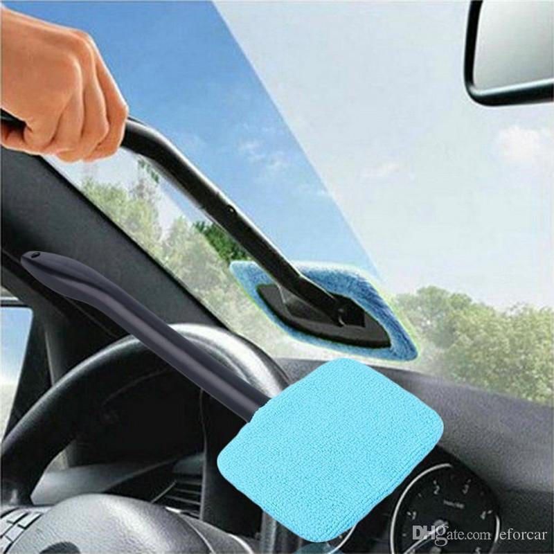 Limpiador de parabrisas de microfibra Cepillo de ventana de automóvil Vehículo automático Mango largo Limpiaparabrisas de vidrio Cepillo de toalla de limpieza Limpiaparabrisas Limpiador de polvo