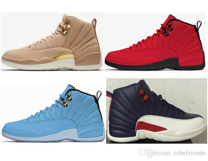 separation shoes 9bd95 070e9 2018 Newest Vachetta Tan 12 Wheat Suede Women Men Basketball Shoes Red Blue  Sports 12s Athletic Sneakers High Quality With Box Us5.5 13 Kd Basketball  Shoes ...
