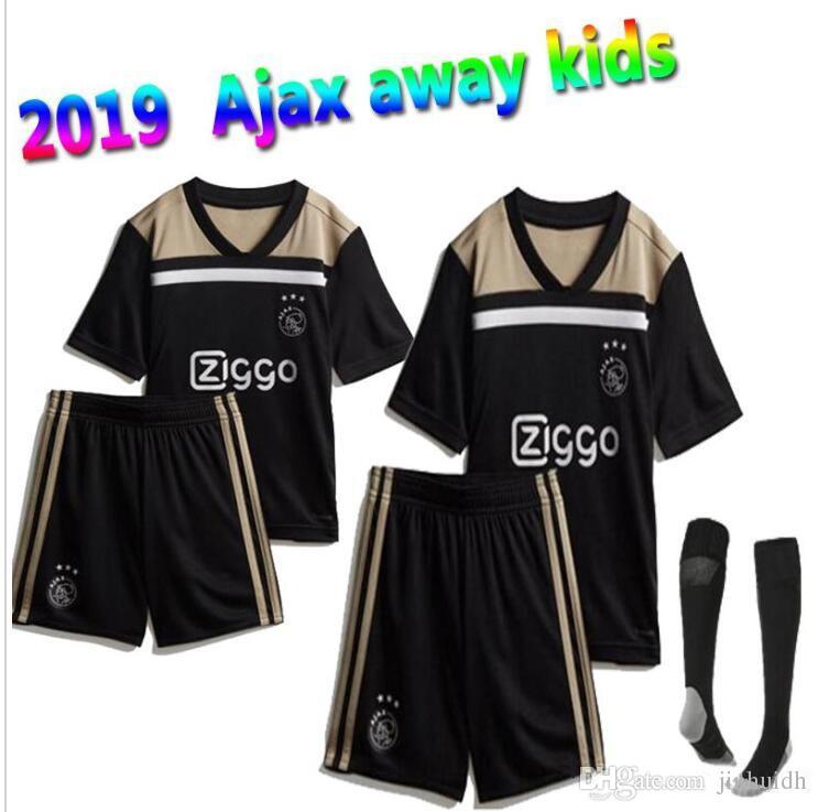 9762bc7ba71 2018 2019 Best Quality Ajax Kids Soccer Jersey 18 19 Ajax Away ...