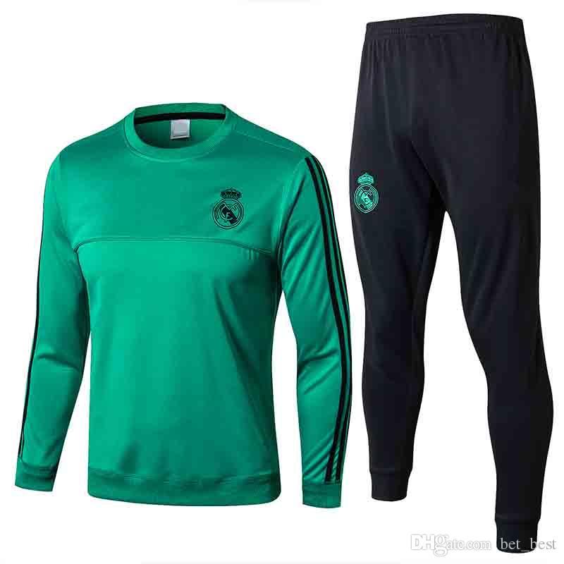 premium selection 3558d fa6b7 AAA 2018 Real Madrid Training Tracksuit Jacket Mens 17 18 Real Madrid  Soccer Jacket Suit Set Soccer Tracksuit Black Pants Sportwear