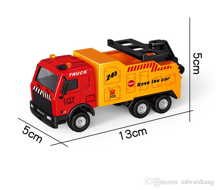Alloy Car Model Toy, Ambulance, Tractor Shovel, Truck, Fire engine, Pull-back Car, for Party Kid' Birthday' Gift, Collection,Home Decoration