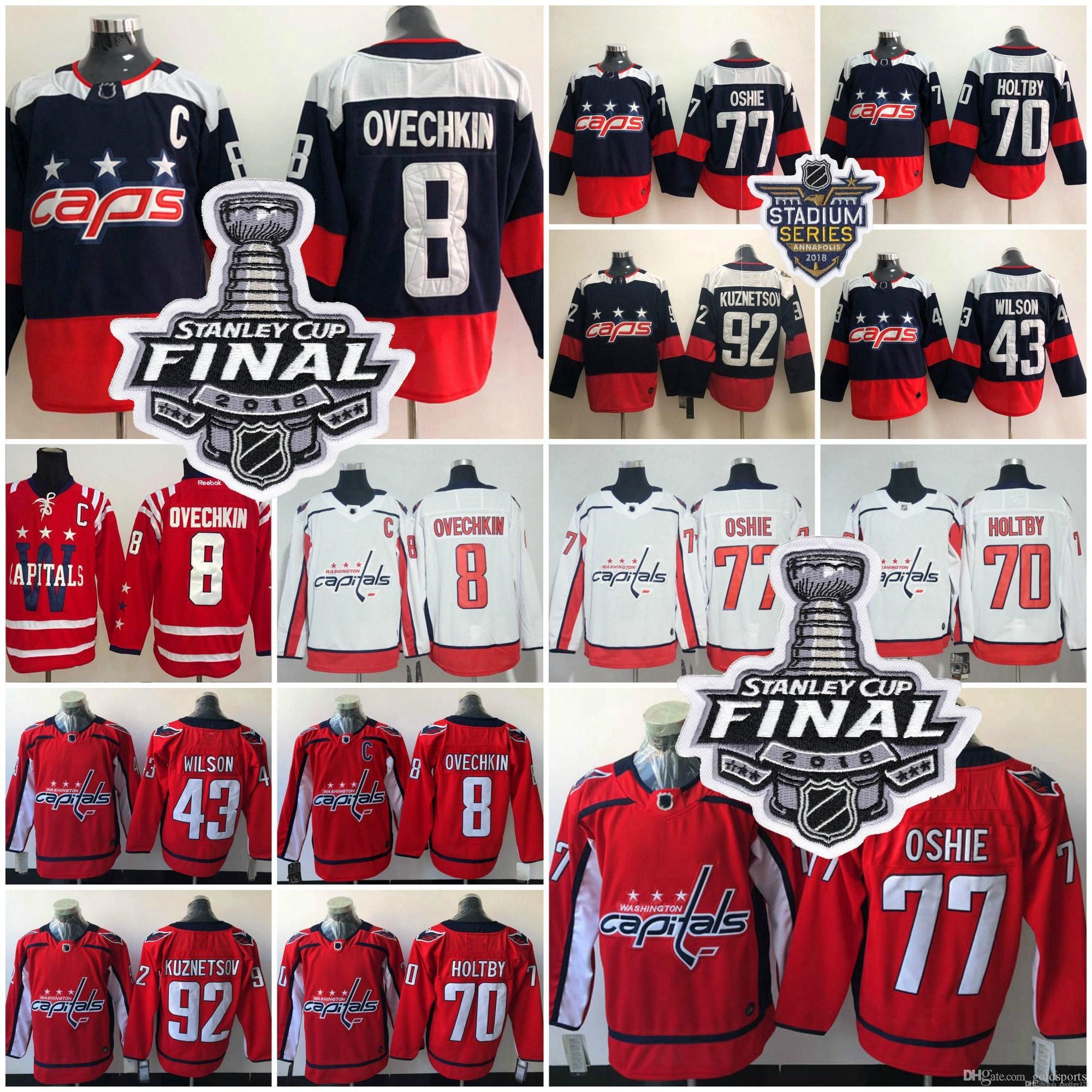 2018 Stanley Cup Washington Capitals 77 TJ Oshie Alex Ovechkin ... 64fc753a9ac