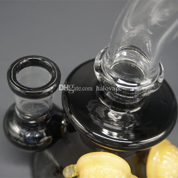 """6.5"""" Inch New Tortoise Cheech Glass Honey Cup Water Bubbler Pipe Mini Size Glass Hookah Bong 14mm Joint Nice Glass Smoking Shisha Bong"""