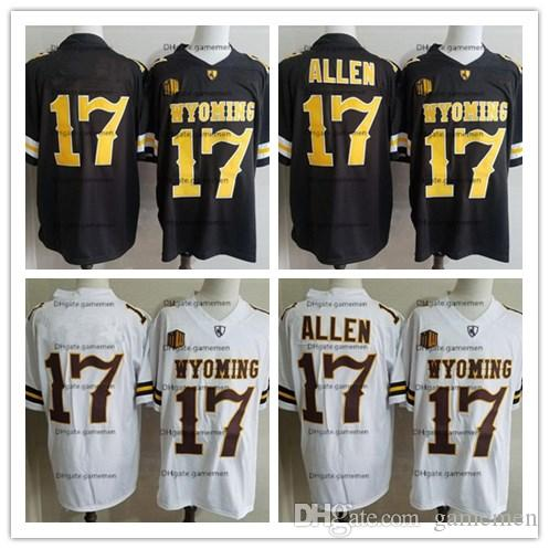 Men's 17 Josh Allen NCAA Wyoming Cowboys College Football Jersey Stitched brown White Buffalo Josh Allen Jerseys S-3XL free shipping