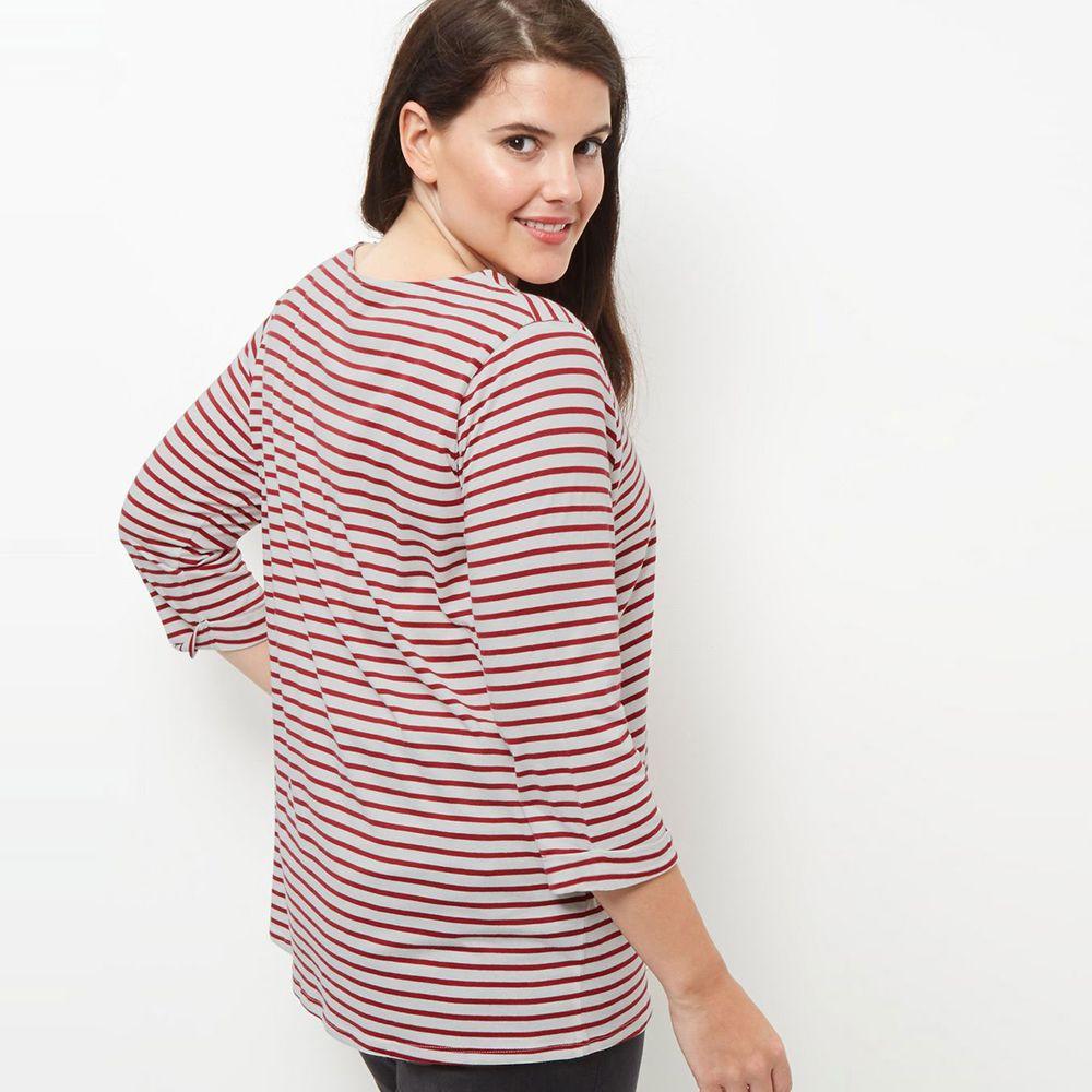 dc1447386420 Kissmilk Plus Size New Fashion Women Clothing Casual Striped ...