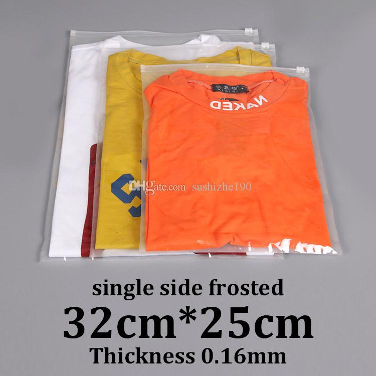 2019 32x25cm 0 16mm single side frosted resealable plastic garment