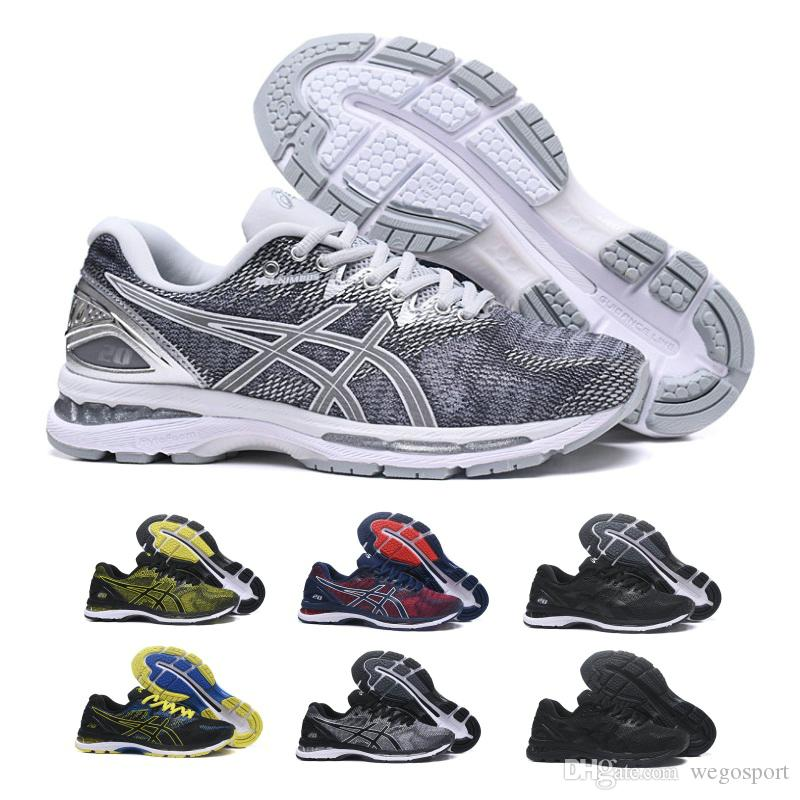 8dafc2fa804 Compre Asics GEL Nimbus 20 Tênis De Corrida Dos Homens Sapatos New Arrivals  Prata Cinza Respirável Calçados Esportivos Designer Tênis Tamanho 40 45 De  ...