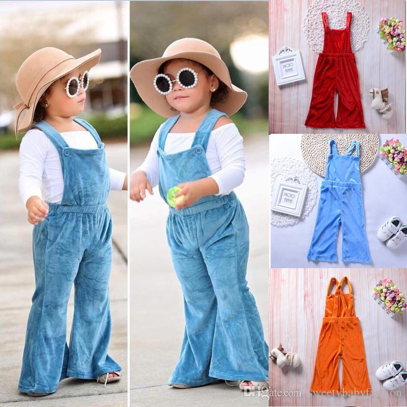 de883ef3a93 2018 New Fashion Kid Baby Girls Clothes Sleeveless Backless Velvet Overalls  Romper Jumpsuit Playsuit Bib Pants Tod Dler Outfits GG315A Camo Suspenders  For ...