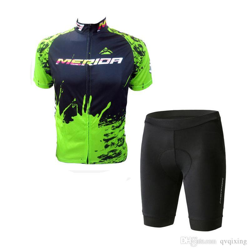 2018 Nuovo stile MERIDA pro squadra ciclismo manica corta / maniche Jersey bicchierini della bicicletta estate mens ciclismo abbigliamento ciclismo MTB sportswear F2907