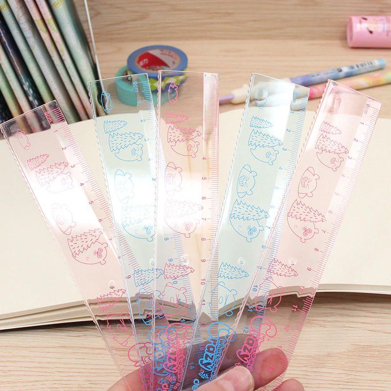2018 Deli New 71892 Pupil 18cm Cute Cartoon Ruler Plastic Transparent Wave  Ruler From Tiankonghalei, $0.8 | Dhgate.Com