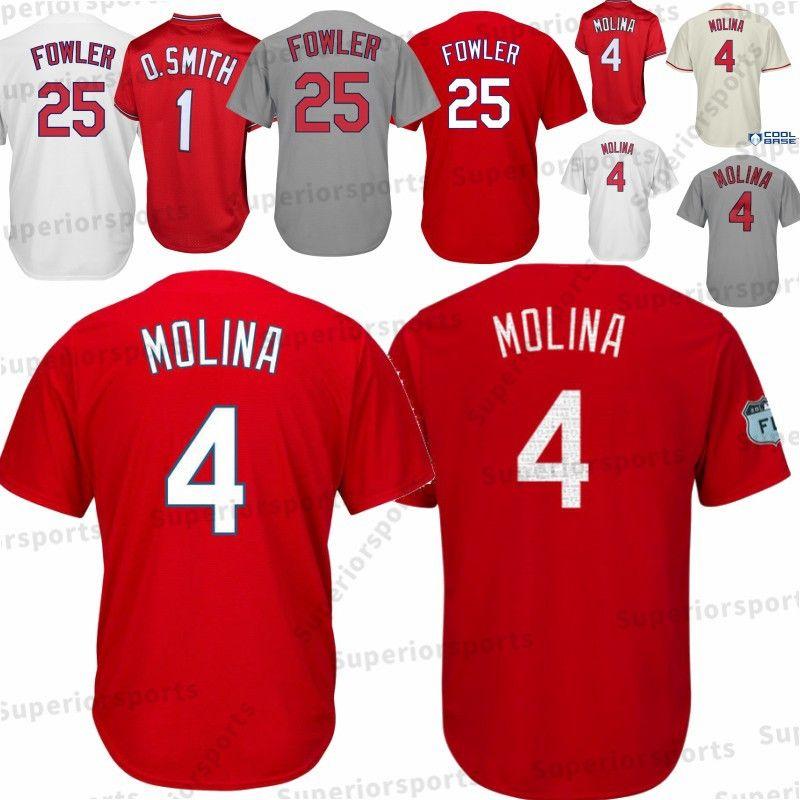 c6f9e709384b 2019 St. Louis Cardinals Men S 4 Yadier Molina 1 25 Dexter Fowler Baseball  Jerseys Baseball Jersey M XXXL Fast 100% Stitched From Mitasneakere2019