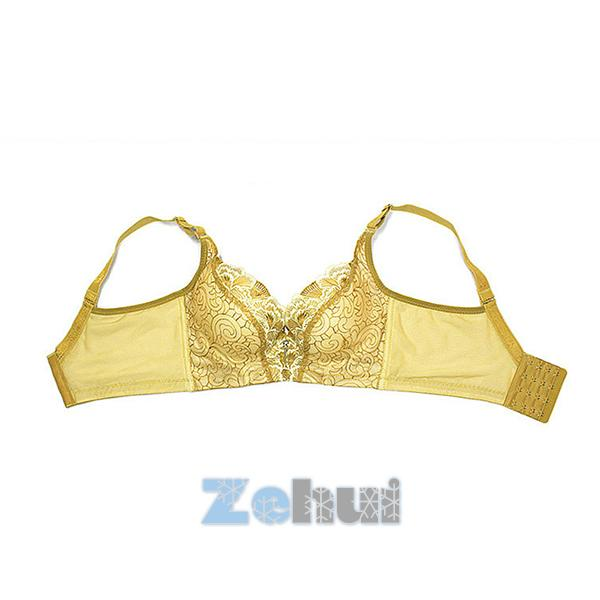 Women Sexy Underwear Lace Padded Push Up 4-breasted Wide Straps Underwire Bra