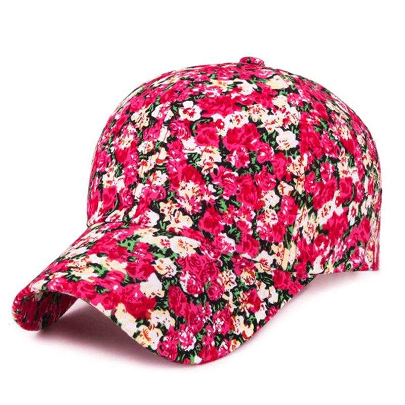2deb8032d4218 Women Floral Baseball Cap Summer Autumn Fashion Embroidery Baseball Hat  Adjustable Ladies Girl Snapback Hip Hop Hat Cap Gorras Customized Hats  Custom Hat ...