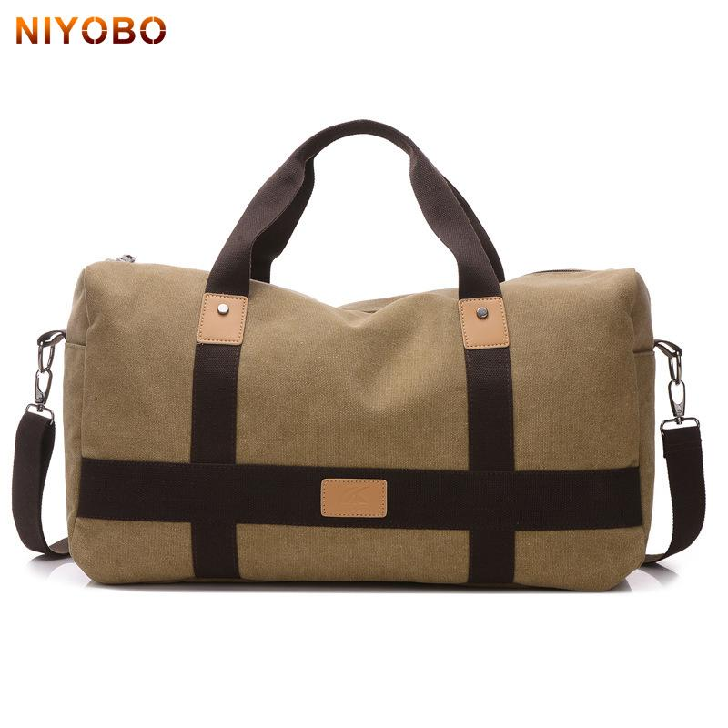 246febcc004f NIYOBO Canvas Men Travel Bags Carry On Luggage Man S Travel Duffle Bags  Vintage Weekend Large Capacity Male Handbags PT1235 Bags Online Shopping  Travel ...