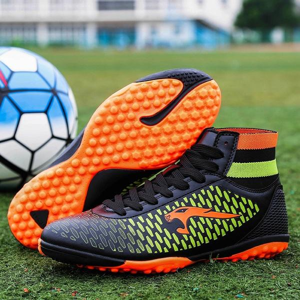 Plus Size 34-46 Men Boys Soccer Shoes Football Boots Waterproof Soccer  Cleats Boot Sports Shoes Outdoor Indoor Soccer Training Shoes da424997cec1f