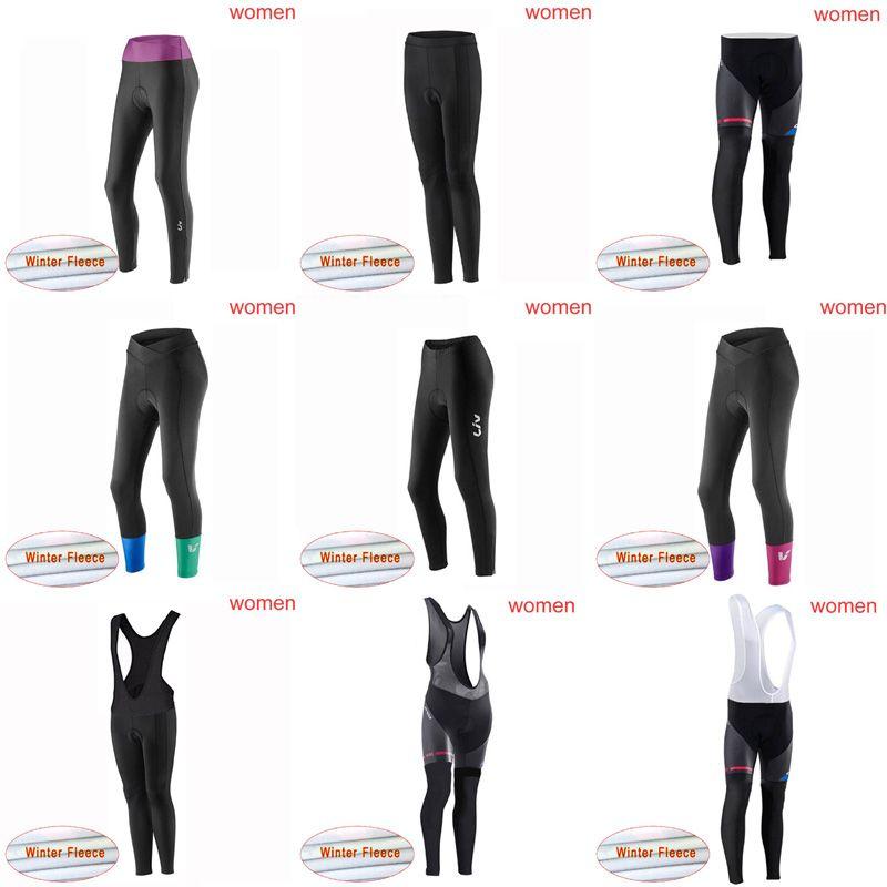 8a464f493d2 LIV ORBEA Team Cycling Winter Thermal Fleece Bib Pants Size XS-4XL ...