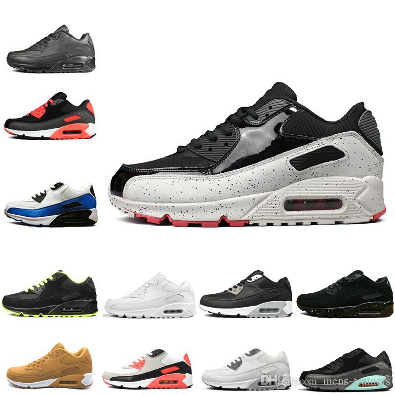nike air max 90 Venta caliente hommes 90 Chaussures zapatillas de deporte en línea Diseñadores mujeres negro blanco amarillo rosa Zapatillas Sport