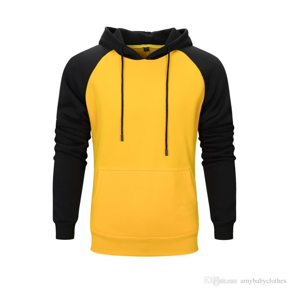 9b252f545e827 Compre Monopatín Sudaderas Con Capucha Para Hombre Amarillo   Naranja    Azul   Rojo Hombres   Mujeres Casual HOODIE Hip Hop Streetwear Grueso  Sudadera ...