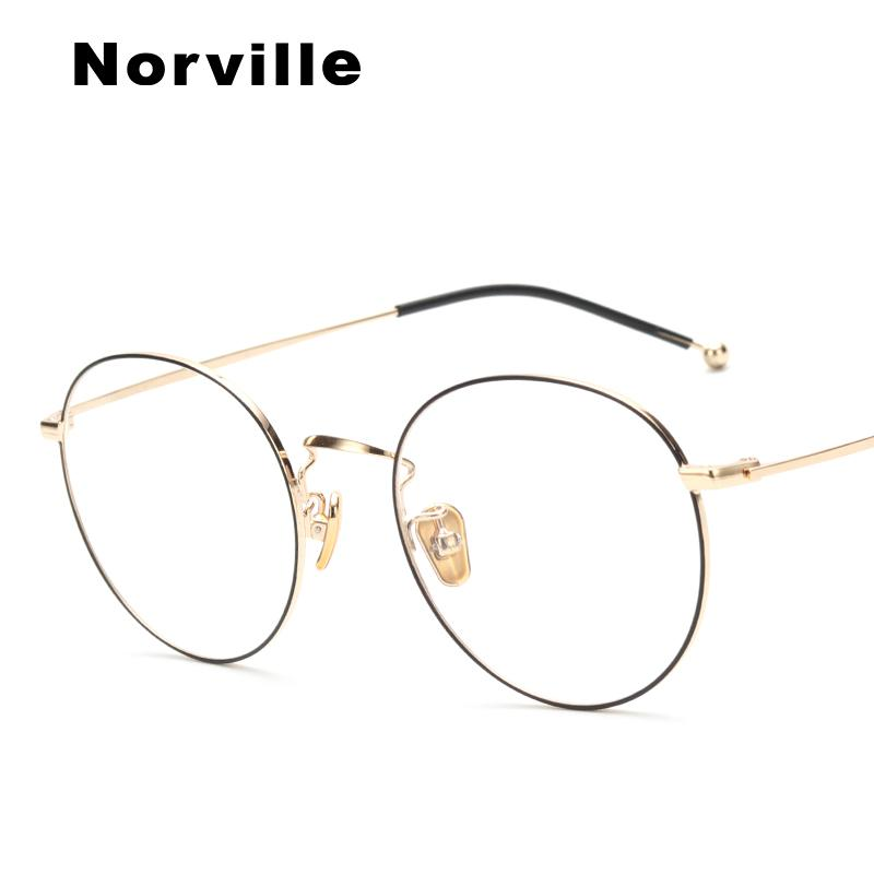 ba85528e03e4 2019 2018 Metal Men Women Eyewear Frames Round Vintage High Quality Fashion  Clear Transparent Eye Glasses Frame  HR1324 From Wdrf