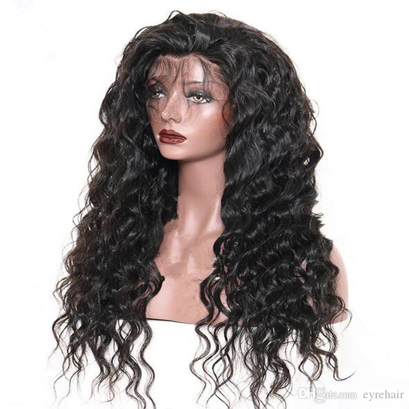 Inexpensive Brazilian Wet and Wavy Human Hair Wigs Brazilian Water Wave Lace Front Wigs Glueless Full Lace Wigs Bleached Knots
