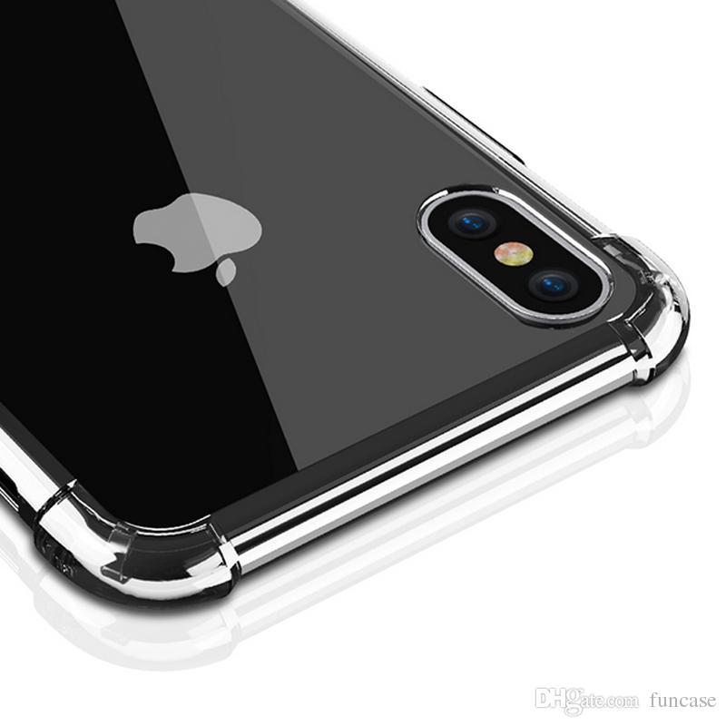 Funda de TPU suave transparente transparente a prueba de golpes TPU para iPhone XS Max XR X 8 7 Plus Samsung Galaxy S10 E S9 S8 M10 M20 M30 A10 A30