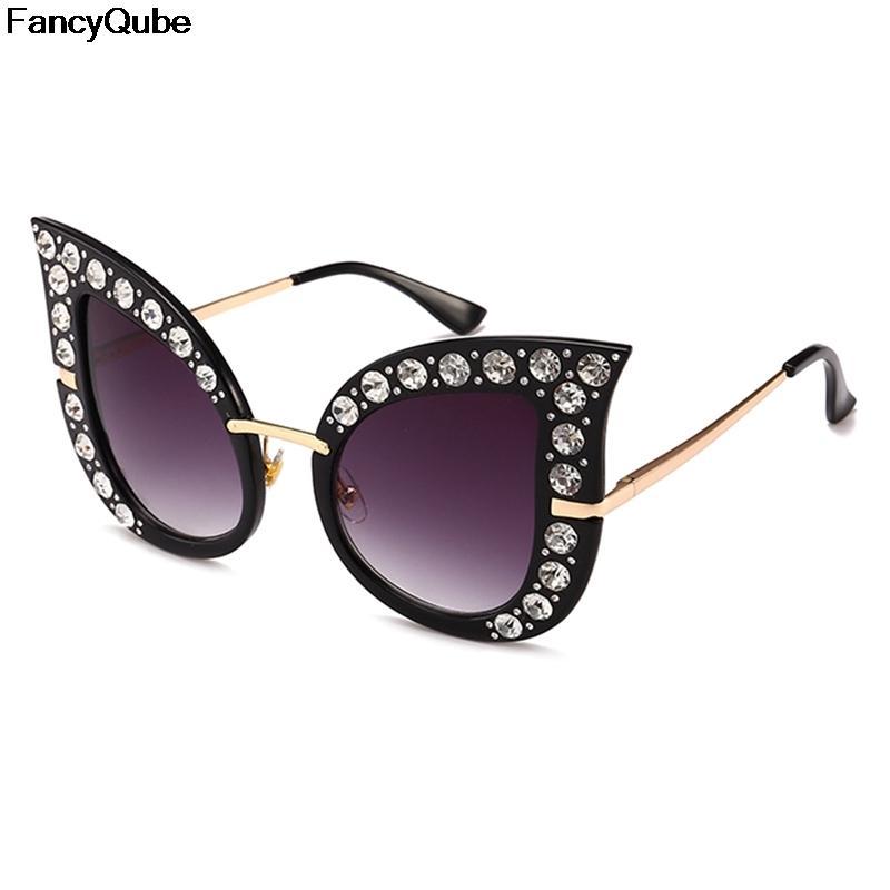 9e108699bf Diamond Pearl Sun Glasses Women Retro Cat Eye Sunglasses Vintage Luxury  Brand Designer Polarized Oversized Female Eyewear Baseball Sunglasses John  Lennon ...