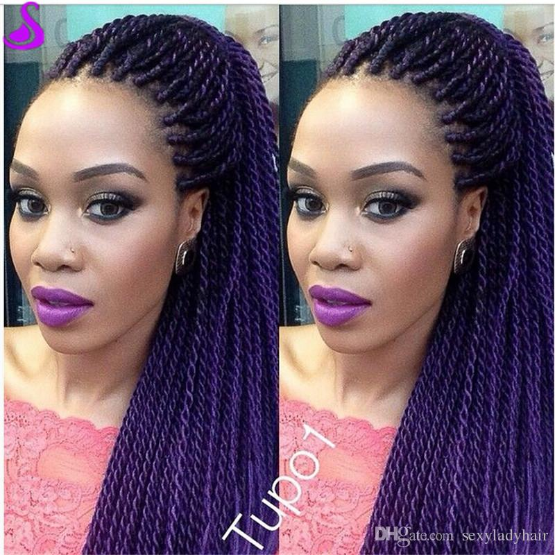 180density Full Senegalese Twist Crochet Braiding Wig ...