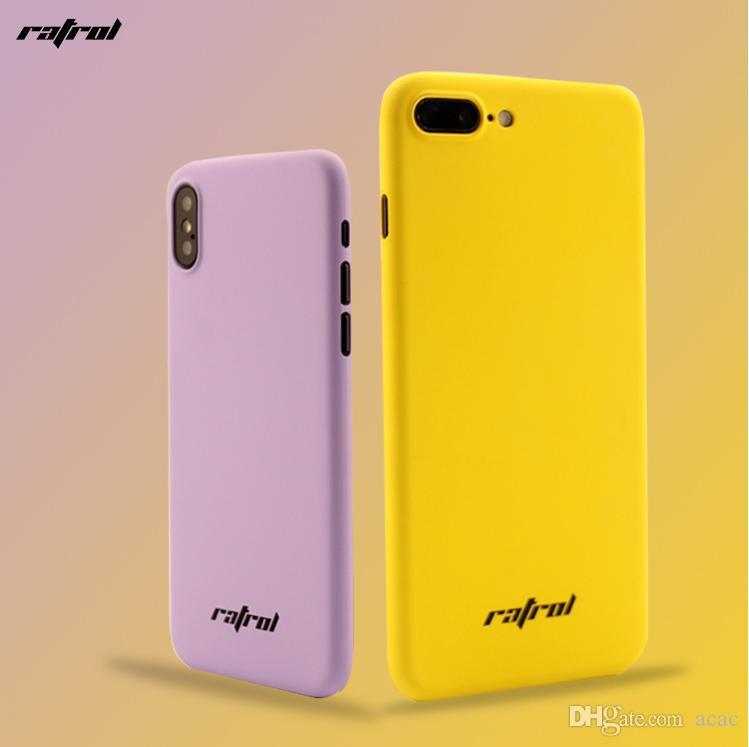 The new iPhoneX ultra thin PP pure color mobile phone shell apple 7/8plus spray oil shield and wear protection sleeve