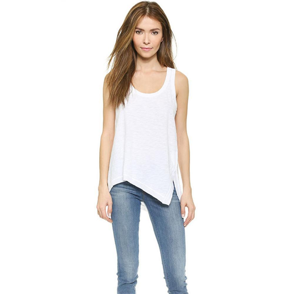 ddeeeb782793e5 2019 Tank Top Women 2018 New Summer Sleeveless Shirt Sexy V Neck Cami Loose  Casual Blouses Female Tops Vest Ladies Clothing From Hongyeli