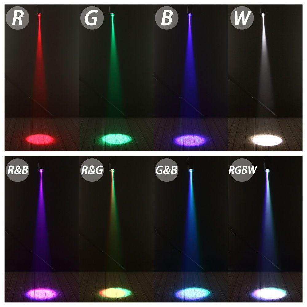 Mini 10W RGBW 4in1 Led Spot Spotlights Disco Spot DMX LED Rain Stage Stage DJ Stage Party Show Light