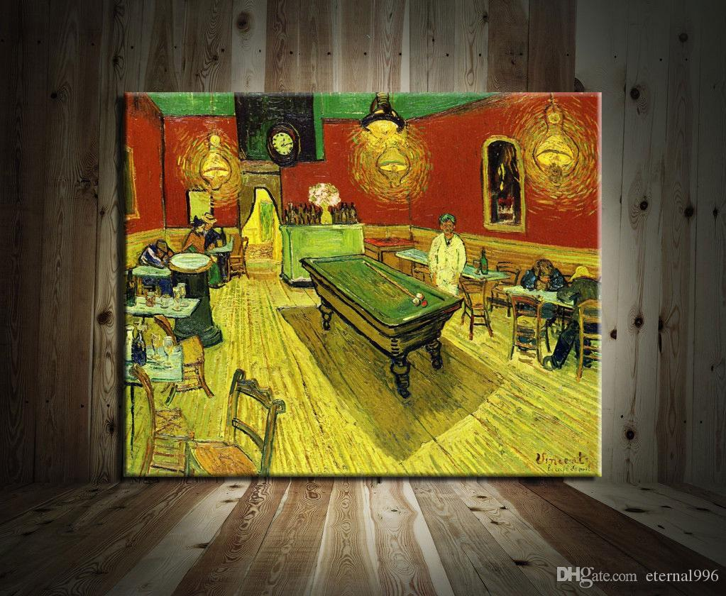 2018 Van Gogh Night Cafe Time,Modern Abstract Canvas Oil Painting ...