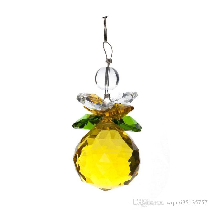 40mm Crystal Faceted Ball Suncatcher Prisms Chandelier Pendant Car Decor Window Hanging Accessories Beauty Gift