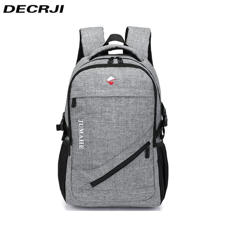 f43249d9fca3 DECRJI Men S Travel Oxford Backpack Bag School Bags For Teenagers Male  Business Casual Bags 2018 Large Capacity Travel Backpacks Jansport Big  Student ...