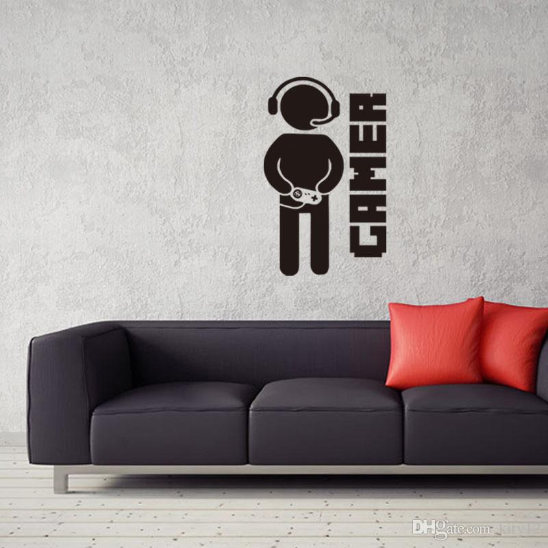 Wholesale New Video Game Wall Stickers Gamer Wall Decal Art For Home Decor Removable Vinyl Mural Paper