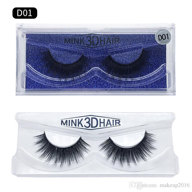 Hot 3D Mink Eyelashes Thick Real Mink Lashes Natural & Soft for Beauty Makeup Extension Fake Eyelashes false eye lashes 15 Models