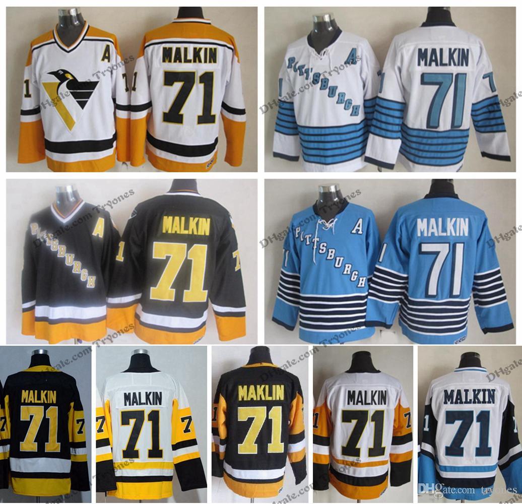 info for da953 a41c2 Vintage Pittsburgh Evgeni Malkin Hockey Jerseys Mens Cheap #71 Evgeni  Malkin Stitched Hockey Shirts A Patch