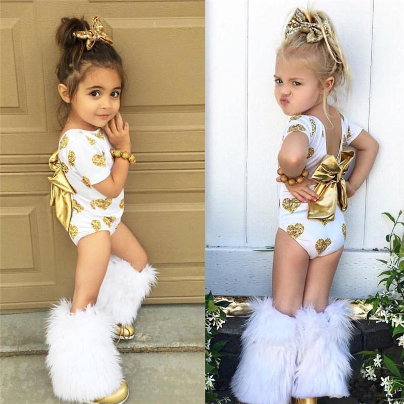 Summer Fashion Toddler Infant Kids Girl Clothes Set Dot T Shirt Tops +  Leather Skirt Outfit Child Suit 2018 UK 2019 From Ouronlinelife 2271abbee