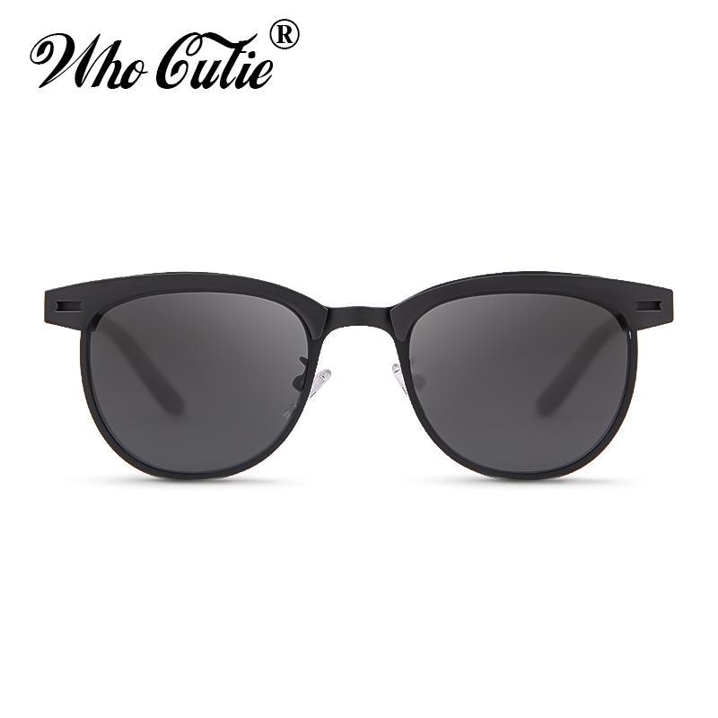 e81e777a62f WHO CUTIE 2019 Sunglasses Men Polarized Brand Designer High Quality Square  Half Frame Sun Glasses Driving Shades for Women OM791 Men Polarized  Sunglasses ...