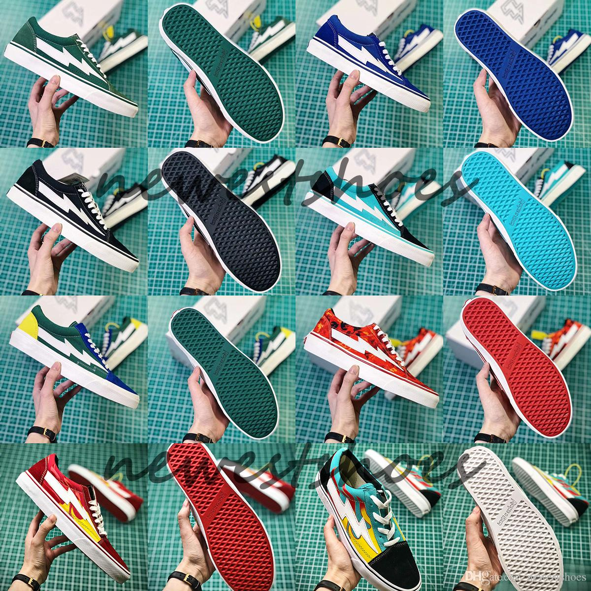 effa8b97dd69 2019 2018 Newest Revenge X Storm 3 Old Skool Green Blue Black Red Yellow  Mens Women Canvas Shoes Kendall Jenner Ian Connor Skate Sneakers From  Newestshoes