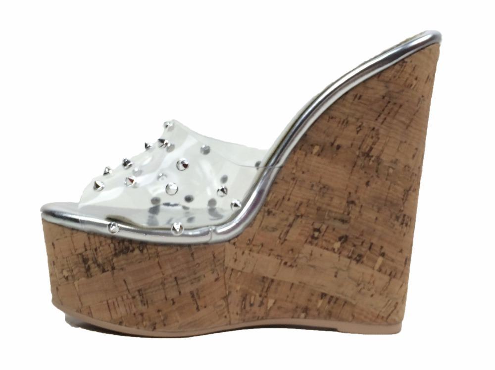 UnabhäNgig Frauen Sandalen 2018 Plattform Sandalen Keile Schuhe Für Frauen Heels Alias Mujer Sommer Schuhe Leder Keil Heels Sandalen 43 Absätze Hohe Absätze
