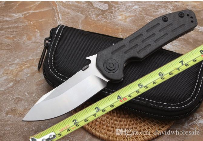 Zero Tollerometro 0630 in titanio con fibra di carbonio D2 coltello a lama lisci con lama tattica in nylon