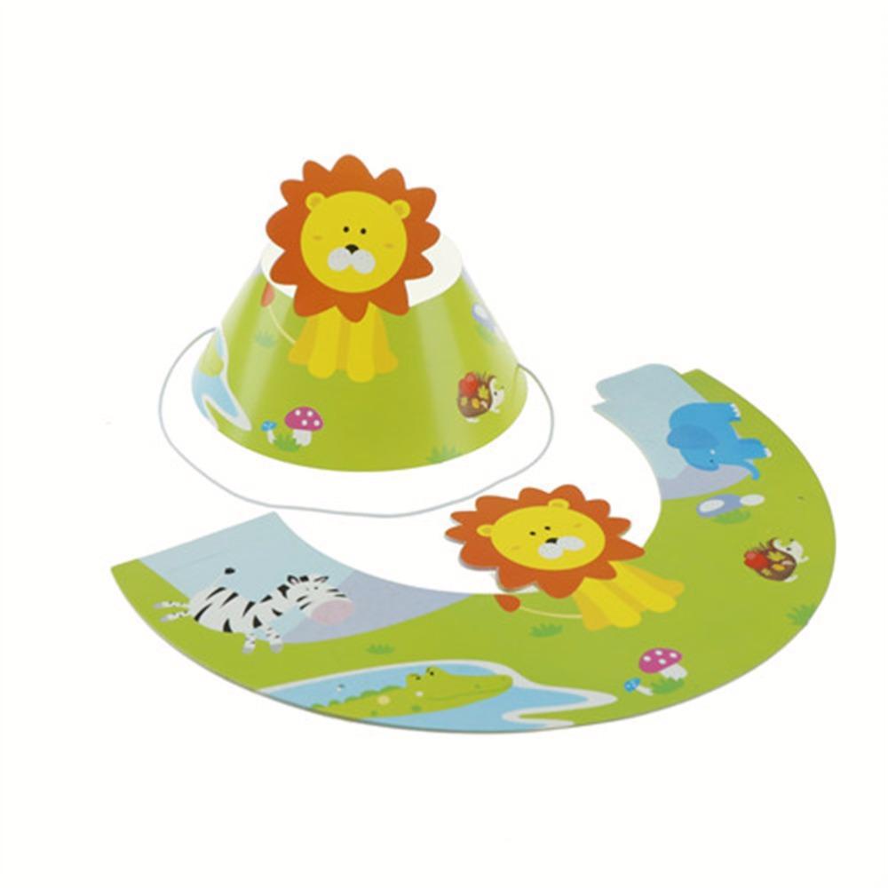 Acquista Animali Decorazione A Tema Bambini Bambini Giungla Animali  Compleanno Cappello Con Berretto Elastico Partito Forniture Regali  All ingrosso A  25.33 ... 1d0fc9b86752