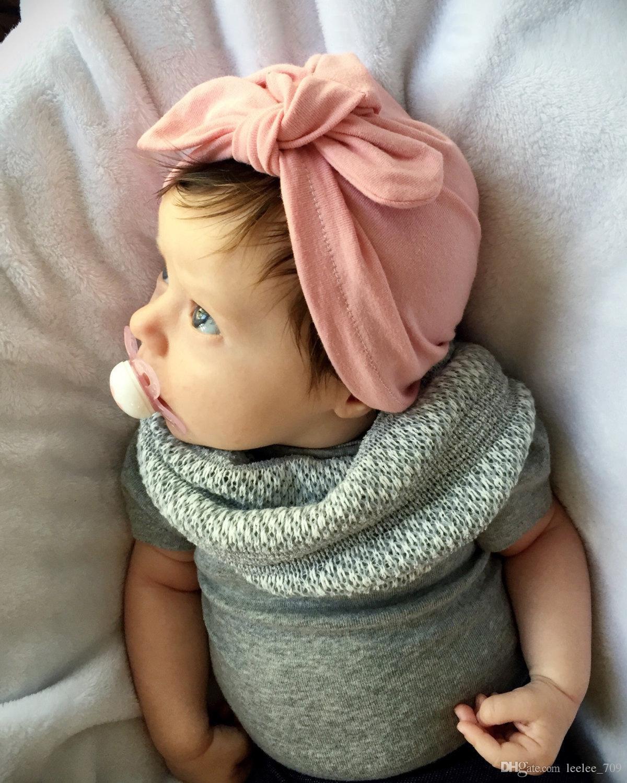 Cute Newborns Bowknot Cap Girls boys 1-6 Year Baby Photography Turban Caps Accessories Kids Rabbit Ears Beanie Hat LC638