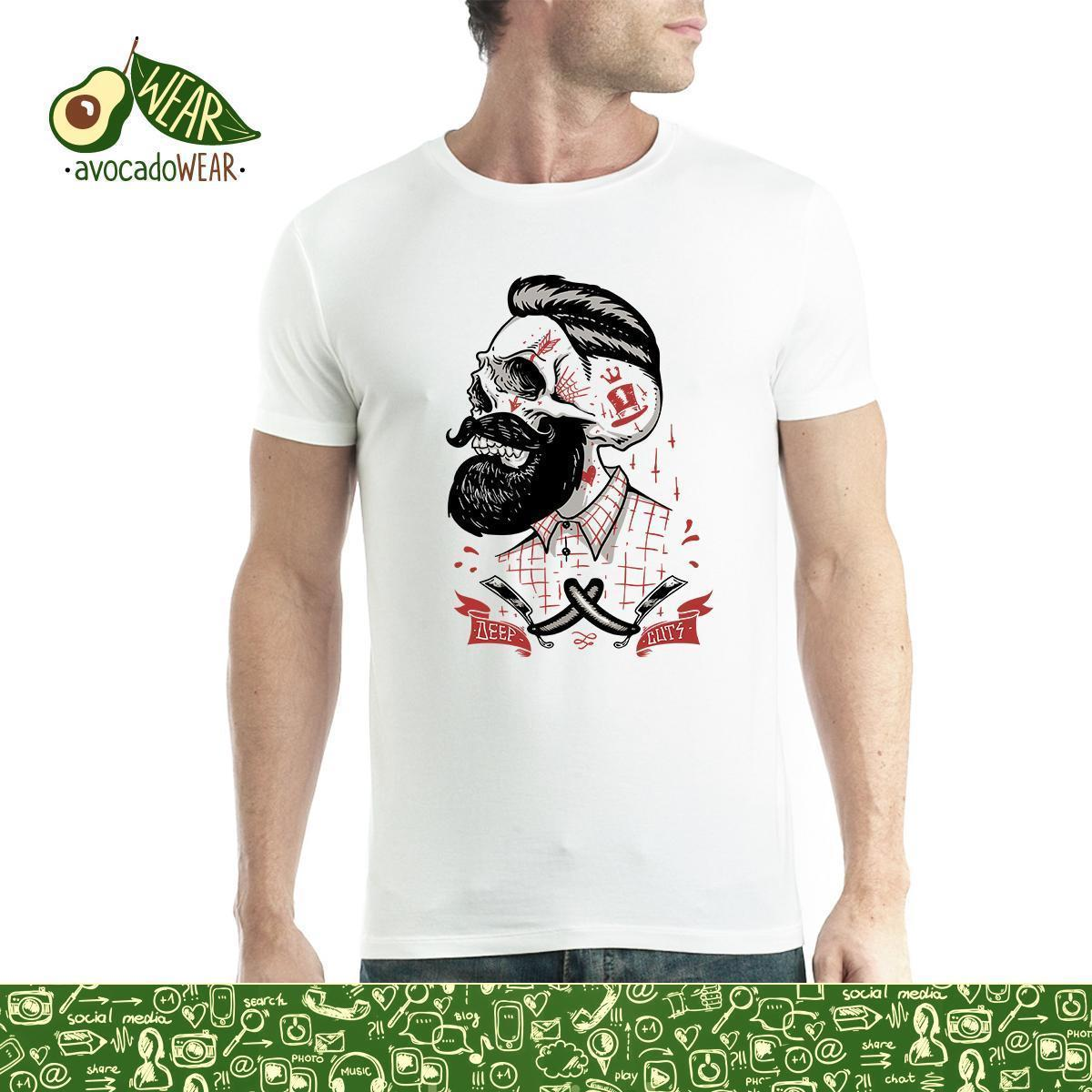 6ef410e0e5b71 Barber Deep Cuts Beard Skull Hipster Mens T Shirt Xs 5xlstreetwear Funny  Print Clothing Hip Tope Mans T Shirt Tops Tees Hot Sale Buy Tee Shirts  Great Tee ...
