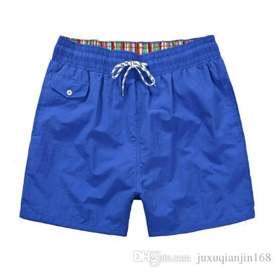 SALE 2018 Wholesale A+ Men polo Short Pants Brand Clothing Swimwear Nylon Men Brand Beach Shorts small horse Swim Wear Board Shorts swimming