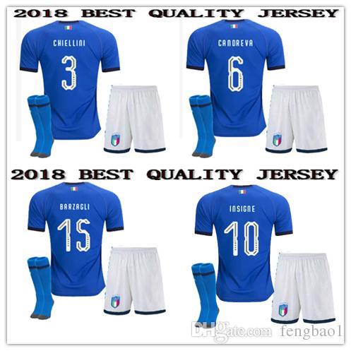 279624ddb09 2019 TOP 2018 2019 Italy World Cup Kids Jersey INSIGNE ZAZA EL SHAARAWY  PIRLO MARCHISIO 18 19 Italy Bonucci Verratti Buffon Football Shirt From  Fengbao1