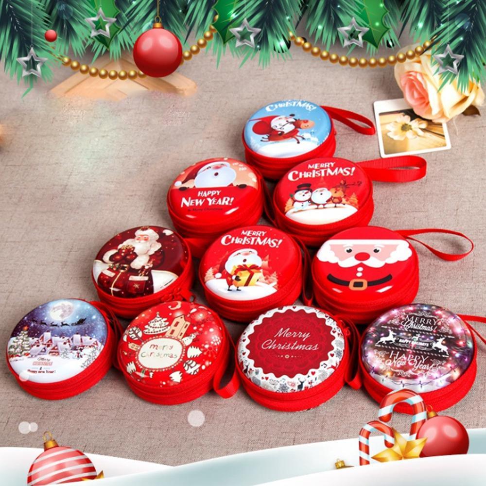Creative Christmas Gift Box Coin Purse Cute Portable Iron Cash Box ...